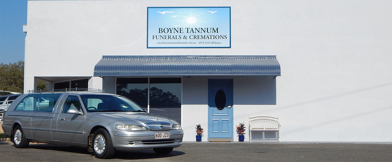Boyne Tannum Funerals & Cremations is located on the corner of Pioneer Drive and Dennis Street, Boyne Island.